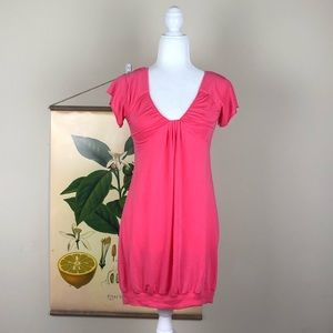 WILFRED Hot Pink Ruffled Loose Blouse Aritzia Med